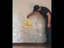 Uni Mitsubishi Pencil - Оформление стен при помощи маркеров POSCA