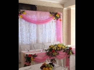 Нежное оформление - свадьба