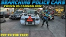 Searching Police Cars Found A K-9 Cannon Non Lethal Gun!
