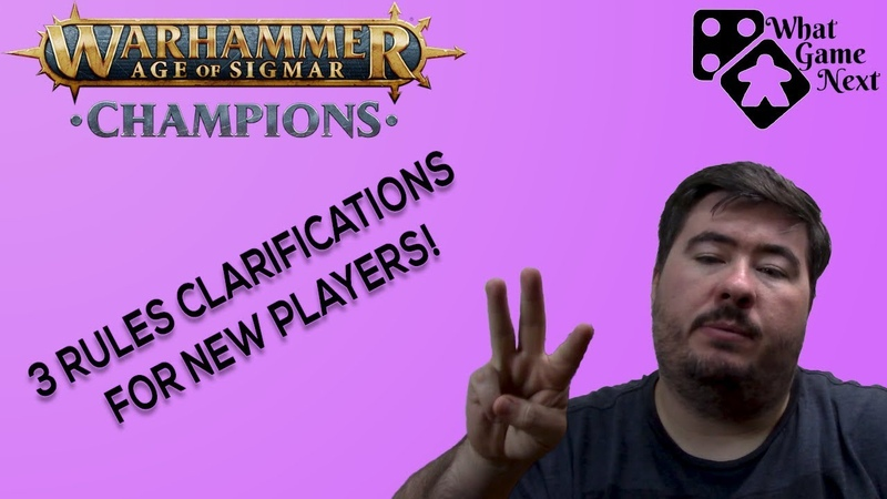 Warhammer Champions Card Game - 3 Rules clarifications for new players from a Heraldor