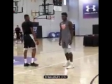Kent Bazemore in 1 v 1 was hitting half court shots like it was layups SC30SelectCamp @24B