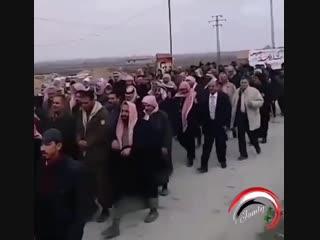ديرالزور الريف الشرقي - - مسيرات شعبية مؤيدة للرئيس بشار الأسد في بلدة مراط في ريف المحافظة الشرقي - - 03012019