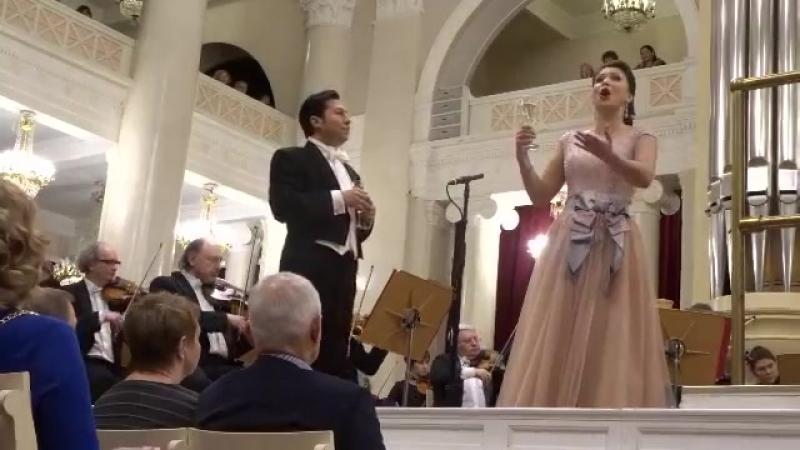 Верди Застольная песня из оперы Травиата с Екатериной Лёхиной