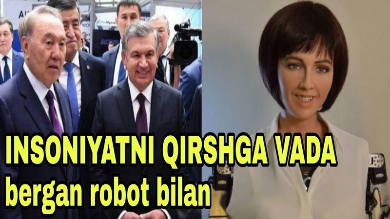 PREZIDENT ODAMLARNI YOQ QILISHGA VADA BERGAN ROBOTNI KORDI!