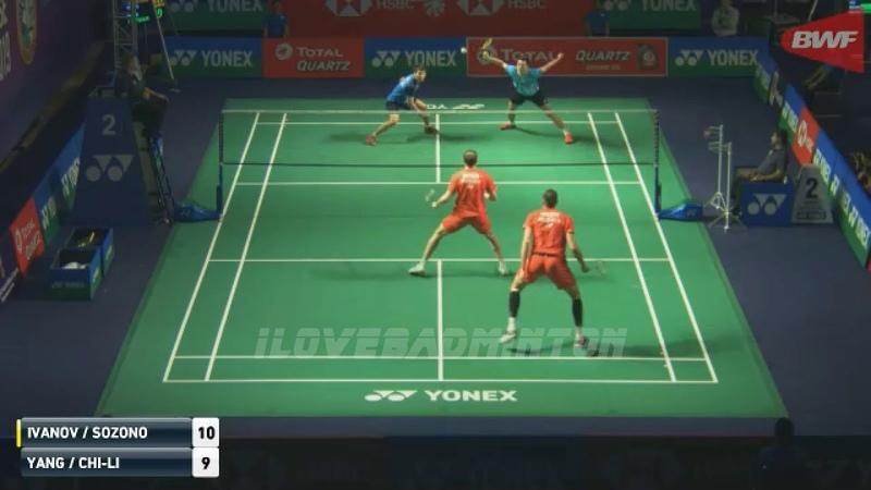 Vladimir IVANOV Ivan SOZONOV vs LEE Yang WANG Chi-Lin INDIA OPEN 2019 Badminton