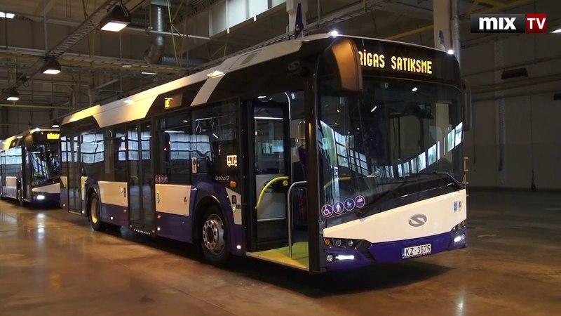 Рига получила модернизированные автобусы: подзарядка для гаджетов и алкотестер MIXTV