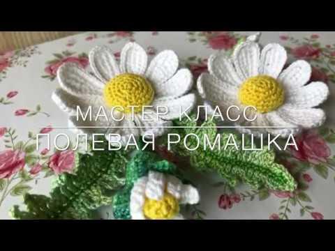 💖Мастер класс💖 Полевая ромашка тунисское вязание Crochet flower pattern