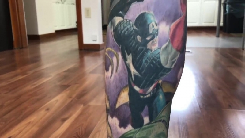 Most marvel comic book character tattoos - Guinness World Records