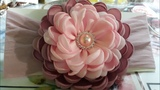 flor betty de 4 capas super esponjosa very fluffy betty flower with 4 layers of satin ribbon 1 side