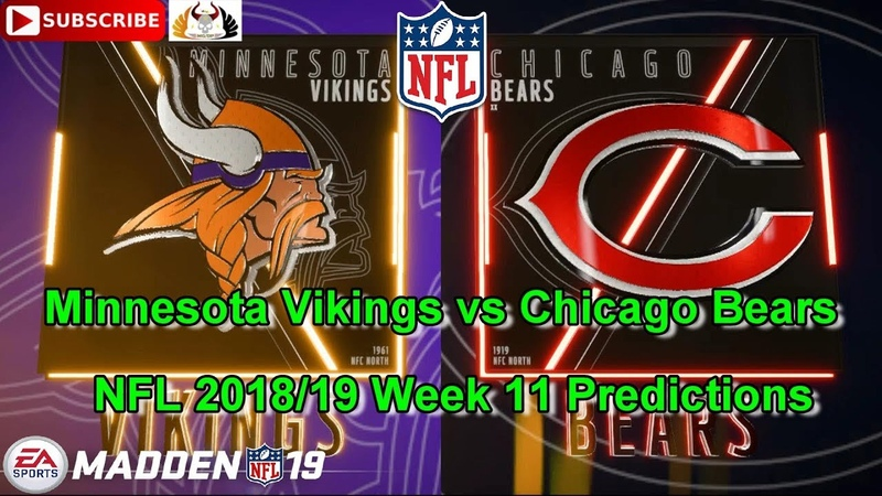 Minnesota Vikings vs Chicago Bears | NFL 2018-19 Week 11 | Predictions Madden NFL 19