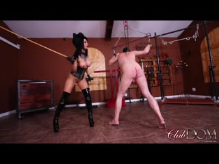 Clubdom crystal rush hard caning (latex,femdom,mistress,whipping, caning and corporal punishment)