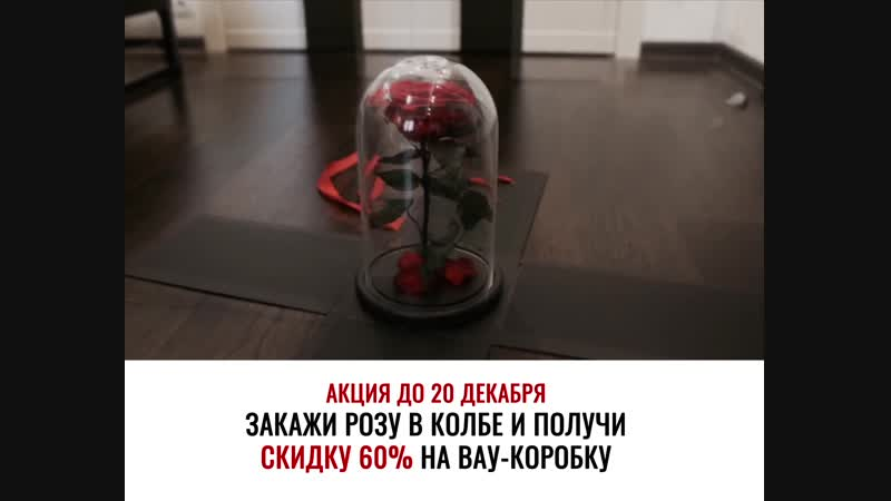 Закажи розу в колбе до 20 декабря получи скидку 60%