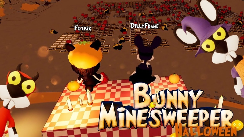 Hallooween gameplay ★ Bunny Minesweeper