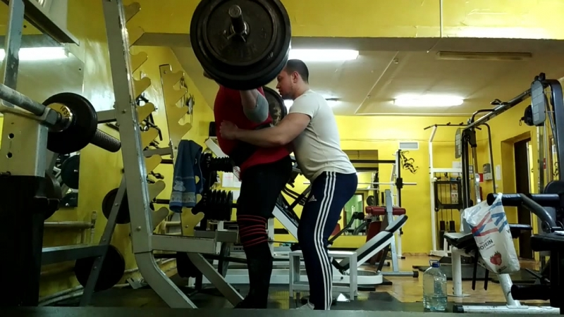 Тяжёлая тернировка присед 210 230 240 кг