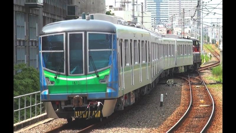東京メトロ千代田線新型車両16000系16101F甲種輸送 part1 - shinkyuvideo