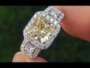 EGL USA SI2 Natural Fancy Yellow Diamond Engagement Anniversary Wedding Ring C372