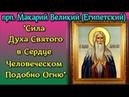 Сила Духа Святого в Сердце Человеческом Подобно Огню - Прп. МАКАРИЙ ВЕЛИКИЙ Египетский Беседа 11