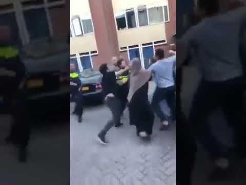 Dutch police officer knocked out by Muslim man