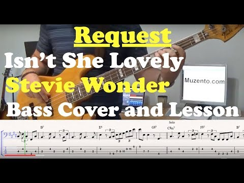 Isnt She Lovely - Bass Cover and Lesson