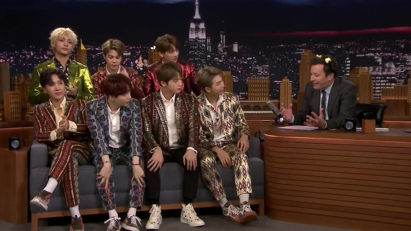 180925 BTS interview @ The Tonight Show Starring Jimmy Fallon
