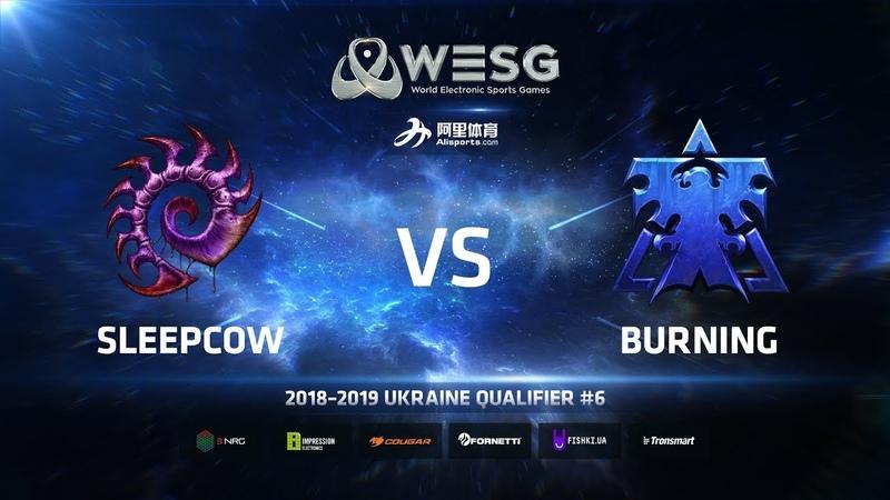 WESG Ukraine Qualifier 6 - Ro4 Match 2: sleepCOW (Z) vs BurNing (T)