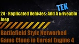 Battlefield Style Clone in UE4 - 24 - Replicated Vehicles Add A Drivable Jeep