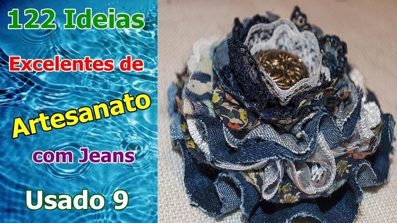 122 Ideias Excelentes de Artesanato com Jeans Usado 9 | Criando Maravilhas