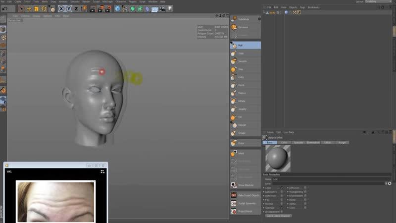 [C4DArT] Unwrap UV with Cinema 4d, sculpting, bake in Xnormal.