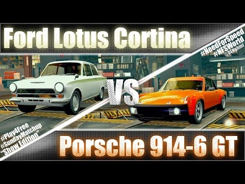 Ford Lotus Cortina vs Porsche 914-6 GT SundayMatchup Ep.9 - NFSW