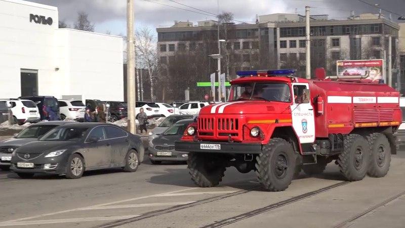 Пожар Рольф Центр Лахта Санкт Петербург 28 03 18