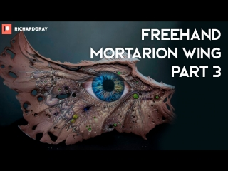 Richard Gray - Freehand Mortarion Wing. Part 3