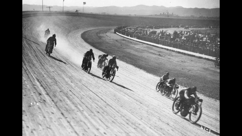 Los Angeles Motor Speedway, April 24, 1921. Motorcycle Board Track Race