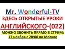 Mr. Wonderful -TV Живой Стрим, 17 ноября 2018, ПЕРЕВОДЧИК-СИНХРОНИСТ ОТКРЫТЫЙ УРОК АНГЛИЙСКОГО ЯЗЫКА