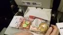 Обед в самолёте из Новосибирска в Камрань