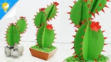 Easy DIY Paper Cactus for Room Decor Paper Crafts Handy Crafts