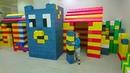 Гигантский Майнкрафт Лего Конструктор Дом.Риша играет в Play Time,Открываем Новогодний МЕГА Киндер