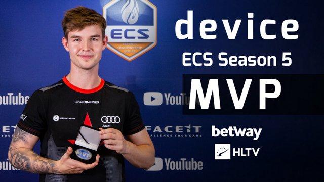Device - HLTV MVP by Betway of ECS Season 5 Finals