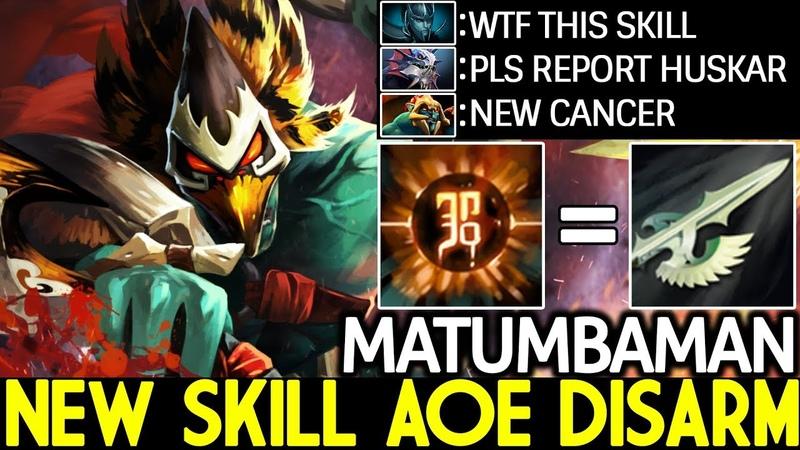 Matumbaman [Huskar] New Skill AOE Disarm Knockback Imba Gameplay 7.20 Dota 2