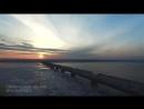 Рассвет в Ульяновске с высоты птичьего полета.