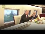 Путин прокатился на скоростном поезде в Китае
