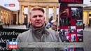 Пикет у Бранденбургских ворот в годовщину Майдана