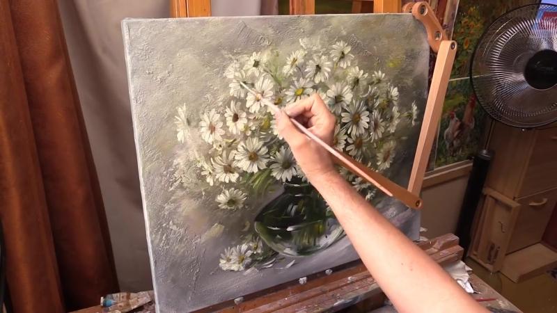 Ромашки. Живопись маслом. Oil painting from Oleg Buiko