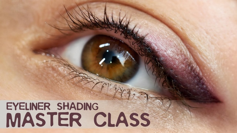 Master Class EYELINER shading in 3 colors Black brown and champagne