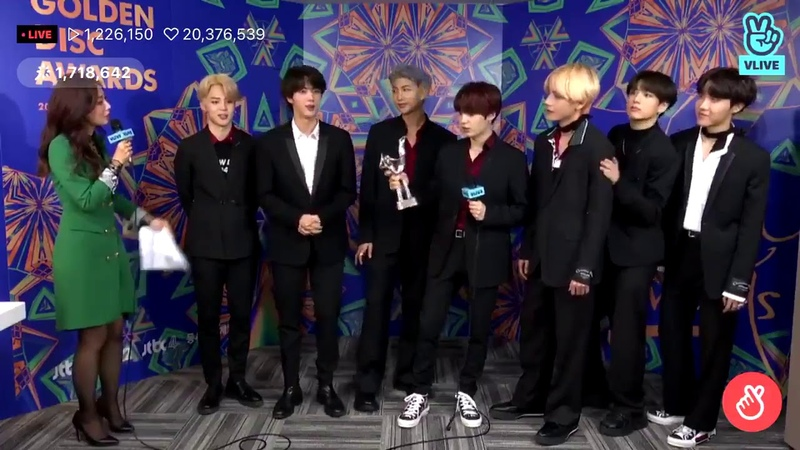 BTS - at 33rdGoldenDiscAwards (WHEN MC TELLS TAEJIN TO KISS EACH OTHER)😂