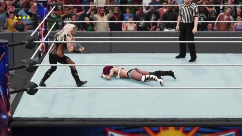 Sasha Banks vs Trish Stratus Random Match WWE2K18