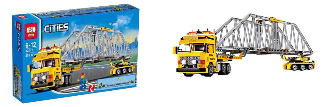 Конструктор Lepin Большой грузовик и мост 02041