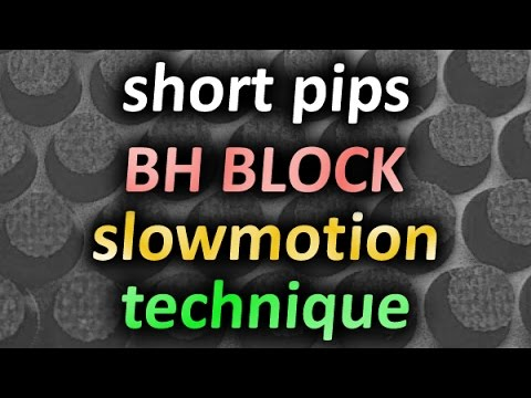 BH block SlowMotion short pips technique / техника игры короткими шипами, блок