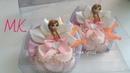 Резиночки принцессы в стразовых платьях/Princess Rubbers in rhinestones