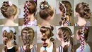 10 cute 3 MINUTE hairstyles for busy morning Quick and easy hairstyles for school