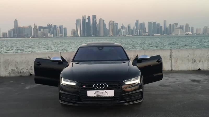 2017 Audi S7 (450hp, V8 4.0TT) black on black - launch, walkaround, interior, ex